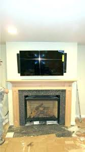 diy mount tv brick fireplace hang installing flat screen on wall hanging plaster