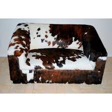cowhide sofa tricolor western living