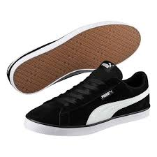 black white puma urban plus suede trainers mens