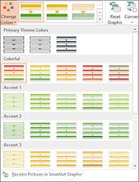 Modifying And Formatting Smartart Graphics Working With Smartart