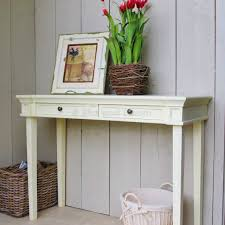 cream console table. Cream 2 Drawer Console Table