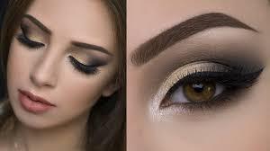 golden and black eye makeup photo 1