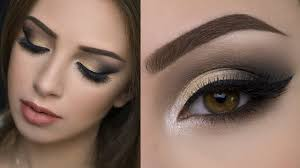 golden and black eye makeup photo 1
