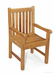 teak chair. Solid Teak Block Island Dining Chair With Arms