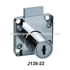 cabinet replacement drawer lock with spring bolt 2 keys