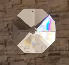 clear 60mm octagon one hole