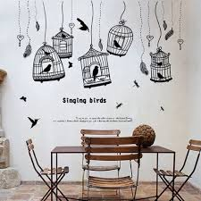 The print is a reproduction of the original and comes ready to hang. Black Wall Sticker Simple Pastoral Style Bird Cage Restaurant Wall Decor Cafe Poster And Prints Room Decoration Kitchen Stickers Wall Stickers Aliexpress