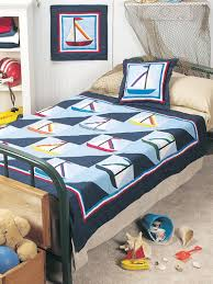 Free Quilt Patterns for Kids - Sailboat Bedroom Quilting Pattern ... & Free Quilt Patterns for Kids - Sailboat Bedroom Quilting Pattern - Free  Kids Bed Quilt, Pillow & Wall Quilt Pattern Adamdwight.com
