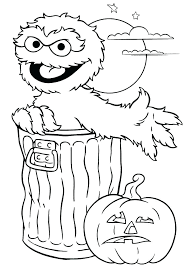 Sesame Street Characters Coloring Pages Free Printable Coloring
