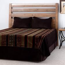 dark chocolate stripe bedspread blanket