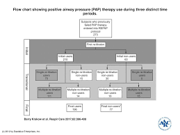 Flow Chart Showing Positive Airway Pressure Pap Therapy
