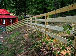 wooden farm fence. 4 Board Post And Rail Farm Fence Wooden