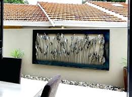 outdoor metal wall art example of large outdoor metal wall art of lilies and tulips in