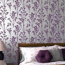 sprigs allover stencil pattern fl wall patterns better than wallpaper