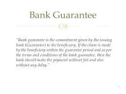 Bank Guarantee Template