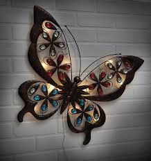 Solar Butterfly Wall Light Greenhurst 4708 Solar Butterfly Wall Art Bronze