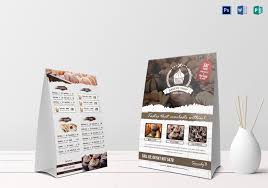 Table Tent Template Publisher Bakery Menu Table Tent Template