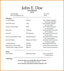 Acting Resume Template Unique Free Template For Acting Resume Acting Resume Template Actor Resume