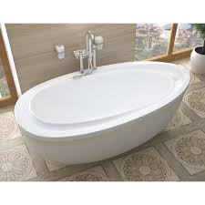 avano av3871ba white corsica 71 acrylic air bathtub for freestanding installations with reversible drain faucet com