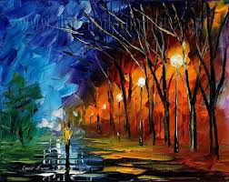 modern impressionism palette knife oil painting kp144