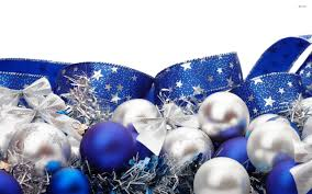 Blue And Silver Christmas Ornaments 722756