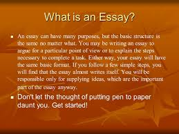 basic guide to writing an essay ppt video online  2 what is