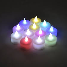 Color Changing Battery Tea Lights Color Changing Everlasting Tealights Candles With 7 Rainbow Colors Set Of 12