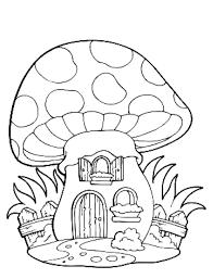 Coloriage D Une Maison Champignon Imprimer Dessins De Champignons Az Coloriage L