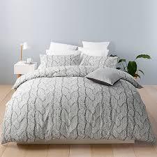 oslo knit print quilt cover set target australia home regarding cable duvet design 2