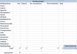 wedding spreadsheet made by beth easy wedding budget spreadsheet