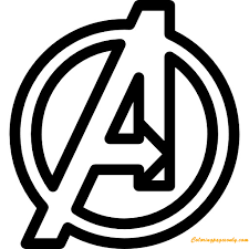 More cartoon characters coloring pages. The Avengers Symbol Coloring Pages Cartoons Coloring Pages Free Printable Coloring Pages Online
