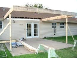 post back porch cover diy outdoor wonderful patio roof options extension over cost building a back porch