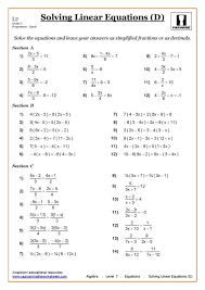 two step equations with fractions and decimals worksheets review