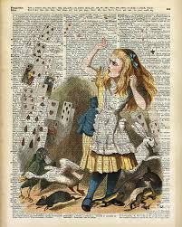 720x900 drawings on book pages alice in the wonderland on a vine