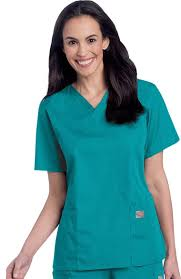 Scrubzone By Landau Womens V Neck Solid Scrub Top