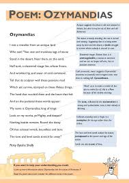 aqa power and conflict poetry revision guide ozymandias