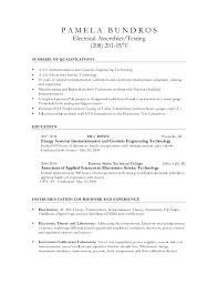 Electronic Assembler Resume Sample | Sample Resume And Free Resume