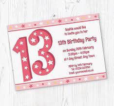 13th Party Invitations 13th Stars Birthday Party Invitations