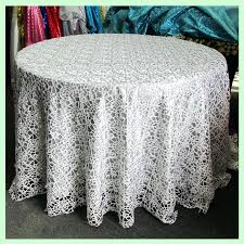 lace tablecloths polyester round