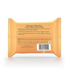 amazon neutrogena deep clean oil free makeup remover cleansing face wipes daily cleansing towelettes to remove dirt oil and makeup