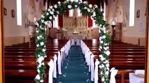 Of Wedding Decorations In Church Elegant Church Decor Hire Wwwweddingdecorationsmozellocom Youtube