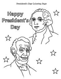 Small Picture Happy Presidents Day with Lincoln and Washington Coloring Page