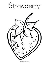 Strawberry Coloring Page Twisty Noodle