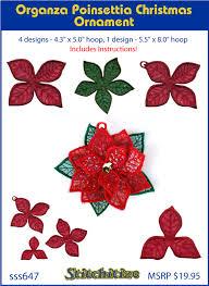 Poinsettia Designs Custom Embroidery Designs By Stitchitize Organza Poinsettia