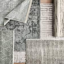 grey mystic medallion hand knotted rug grey