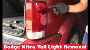 2007 Dodge Nitro Rear Light Assembly How To Replace Tail Light On Dodge Nitro 2007 And Up Diy