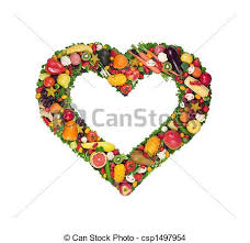 fruit and vegetables heart. Simple Heart Fruit And Vegetable Heart  Csp1497954 With And Vegetables Heart L