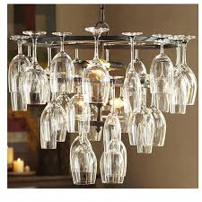 metal ceiling lights wine glass