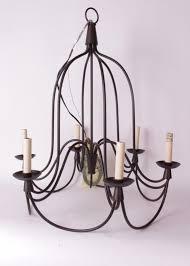 nib pottery barn armonk 6 arm chandelier dark bronze