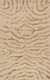 animal inspirations plush zebra area rug rectangle brown
